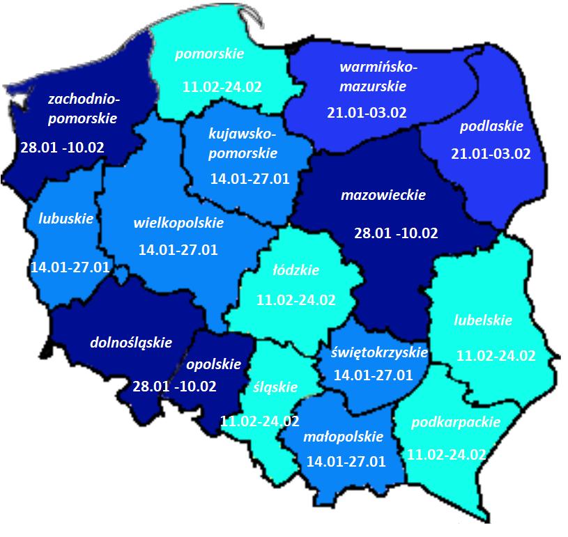 ferie 2019 mapa